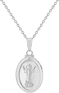 925 Sterling Silver Divine Child Medal Pendant Necklace for Children