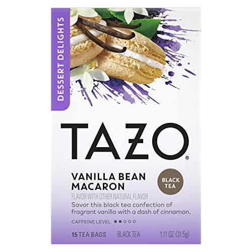 Tazo Dessert Delights Tea Vanilla Bean Macaron Sugar and Calorie Free 15 Count