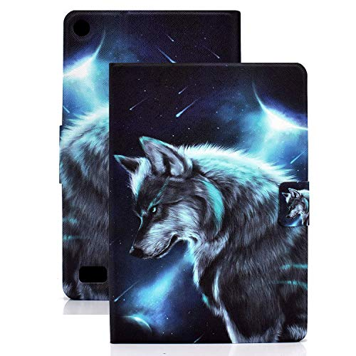 APOLL Cover Case for Amazon Kindle Paperwhite (Fits All-New 10th Generation 2018 and All Paperwhite Generations), PU Leather Slim Lightweight Auto Sleep Wake Up Case for Paperwhite 1 2 3 4, Wolf