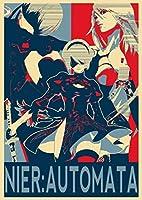 インテリアポスター・プリント-Propaganda Nier Automata - Charactersアート キャンバス絵画 インテリアパネル インテリア絵画 新築飾り 贈り物 サイズ A2(40x60)