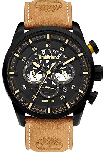 Timberland Reloj Analógico para Hombre de Cuarzo con Correa en Cuero TDWGF2100602