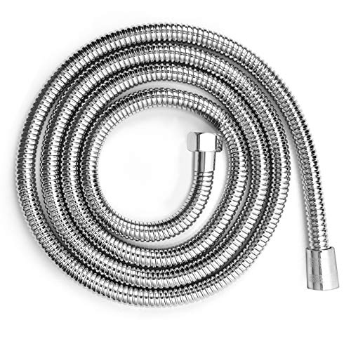 Blissland Shower Hose Extra Long 118 Inches Chrome Shower Head Hose or Faucet Extension Tubes with Brass Insert and Nut