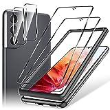 LK Compatible con Samsung Galaxy S21 Protector de Pantalla,2 Pack Cristal Templado y 2 Pack Protector de Lente de cámara, Doble protección, Kit de Instalación Incluido
