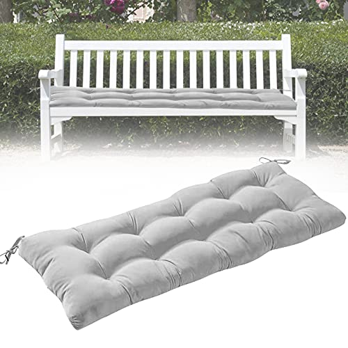 Indoor/Outdoor Bench Cushion,Patio Seat Cushions for Benches,Garden Bench Cushion,Porch Swing Seating Pad,Loveseat Cushion,Replacement Seat Pads for Lounger Garden Furniture Metal Wooden Bench(Gray)