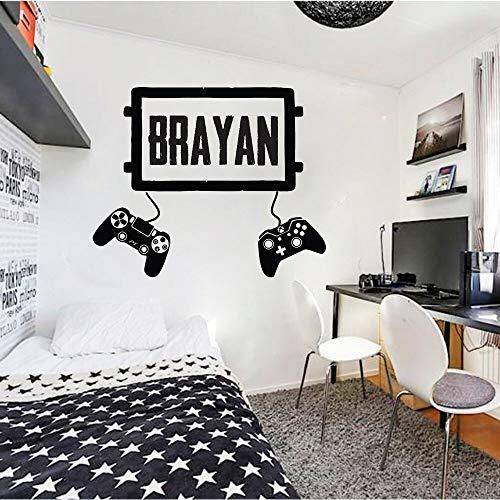 Tianpengyuanshuai Gepersonaliseerde muursticker, voor koppels, spelcontroller, video, muurstickers, personaliseerbaar, voor slaapkamer, vinyl, 75 x 91 cm