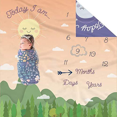 Manta mensual doble cara bebés niños