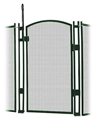 Sentry Safety Pool Fence Visiguard 5' Tall Self-Closing/Self Latching Pool Fence Child Safety Gate (Green)