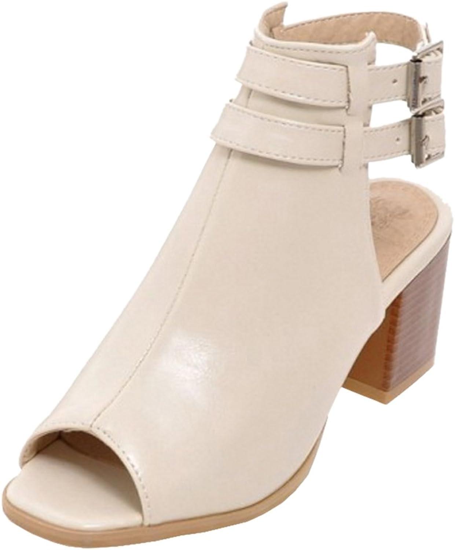 TAOFFEN Women's Block Heel Sandals shoes