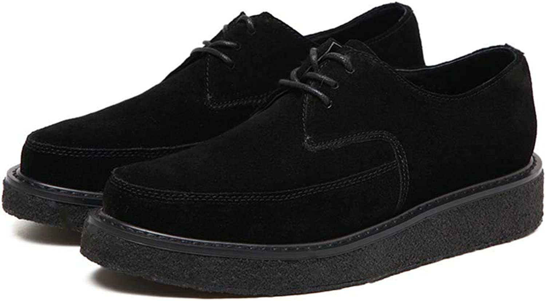 DANDANDANJIE Woherrar skor Fall Comfort Oxfords Flat Hee Lace -Up svart skor