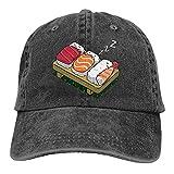 QUEMIN Funny Sushi Sleep Unisex Gorras de béisbol Ajustables Sombreros de Mezclilla Cowboy Sport Outdoor