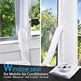 TOPOWN 400CM Airlock Universal Window Seal for Mobile Air-Conditioning and Tumble Dryer, Hot Air Away, Easy to Install, No Need for Drilling Holes, White
