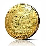 innoGadgets Medalla física de Dogecoin chapada en Oro auténtico de 24 Quilates. Auténtica Pieza de coleccionista con Funda Protectora. Un Producto imprescindible para Todo Aficionado a Dogecoin