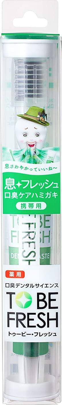 放つ熱三角形トゥービーフレッシュ トラベルセット 薬用 デンタルペースト フレッシュミント 20g+歯ブラシ1本