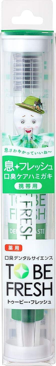 たまにドナー国民投票トゥービーフレッシュ トラベルセット 薬用 デンタルペースト フレッシュミント 20g+歯ブラシ1本