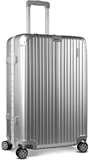 Wanderlite 28'' Large Luggage Lightweight Suitcase Rolling Carry-on Bag Hard Case-Silver