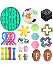 Set of Sensory Fidget Toys 24 Pieces lindra stressdekompressionsleksaker för barn och vuxna för ångestlindring Autism & ADHD