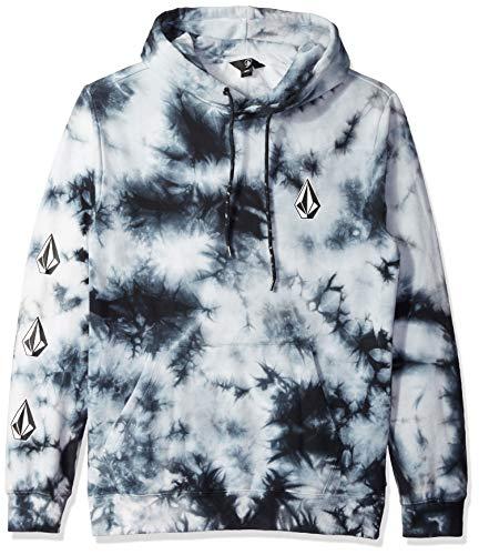 Volcom Men's Deadly Stones Hooded Fleece Pullover Sweatshirt, Storm, XLARGE