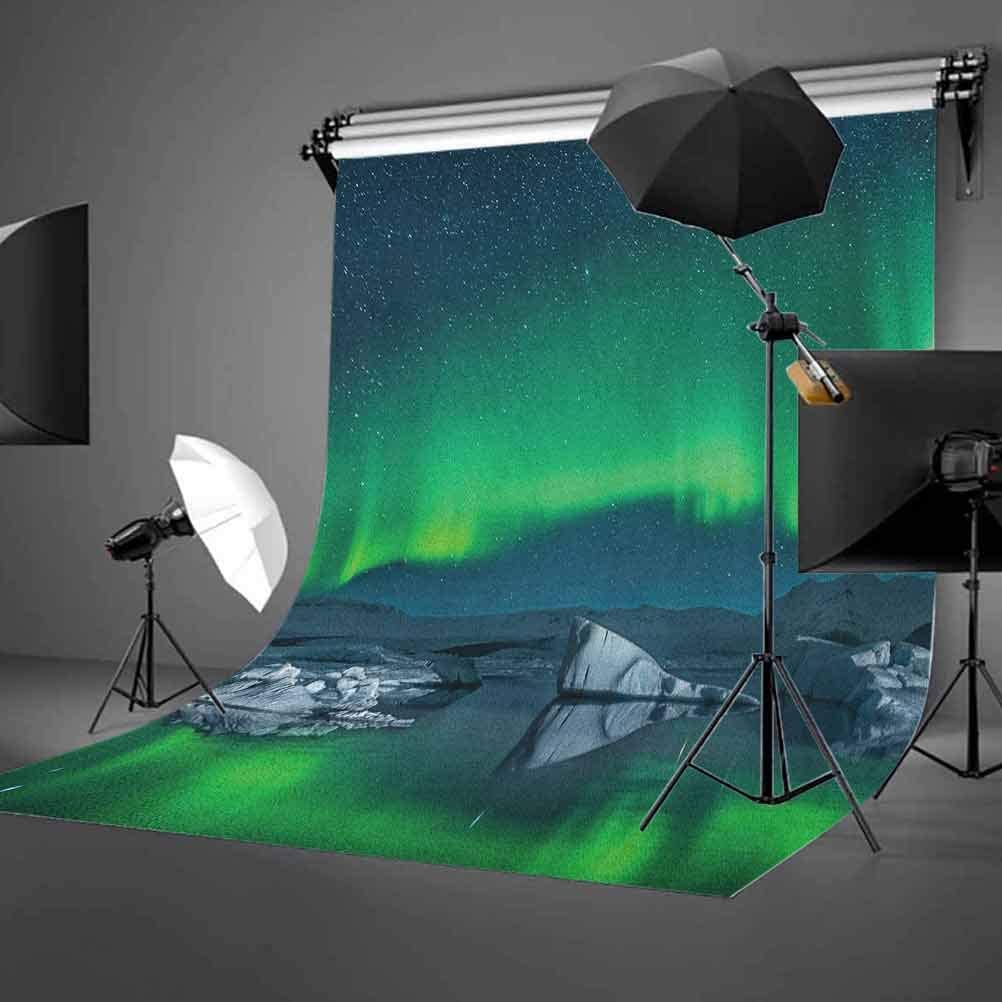 8x12 FT Abstract Vinyl Photography Background Backdrops,Curved Stripes with Rainbow Colors on a Dark Toned Background Modern Art Design Background for Photo Backdrop Studio Props Photo Backdrop Wall