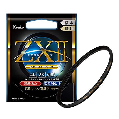 Kenko レンズフィルター ZX II プロテクター 77mm レンズ保護用 超低反射0.1% 撥水・撥油コーティング フローティングフレームシステム 薄枠 日本製 237663