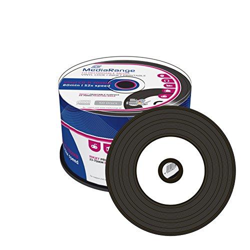 50 MediaRange Rohlinge vinyl prinable black CD-R 52x