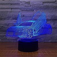 LEDスポーツカー3Dランプ7色タッチナイトライトクリエイティブスモールテーブルランプ3D