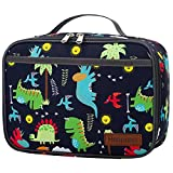 Kids Lunch Box, Insulated Reusable Lunch Bag with Waterproof Liner, Thermal Meal Container Tote for Girls & Boys & Women, Dinosaur Shark unicorn Space Rocket Style... (dinosaur)