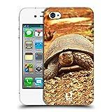 Head Case Designs Tortuga Arrastre Animales Famosos Carcasa rígida Compatible con Apple iPhone 4 / iPhone 4S