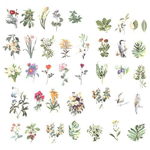 EXCEART 2 Set Planta Flor Hojas Pegatinas Decorativas para Planificador Diario Álbum de Recortes Teléfono Portátil