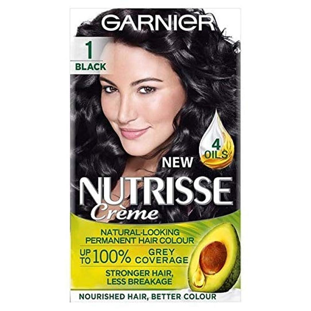 事前メーカー印刷する[Garnier ] ガルニエNutrisse永久的な毛染料ブラック1 - Garnier Nutrisse Permanent Hair Dye Black 1 [並行輸入品]