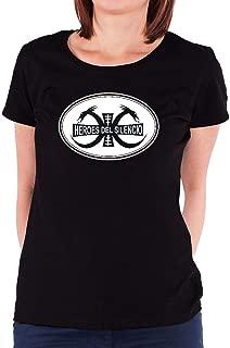 LILILOV Women's T Shirts Heroes Del Silencio Logo Black