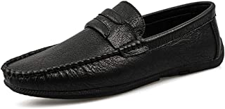 LFSP Mens Penny Loafers Boat Shoes Loafers for Men Casual Shoes Lace Up Synthetic Leather Business Dress Driving Classic Anti-Slip Flat Lightweight Vegan Round Handmade Flats A