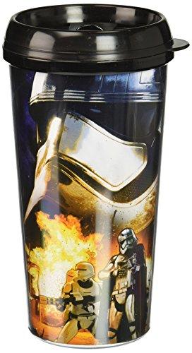 Silver Buffalo SE0587 Disney Star Wars Episode 7 Captain Phasma Plastic Travel Mug, 16-Ounces