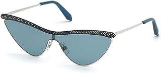 Sunglasses Atelier Swarovski SK 0239 -P 16W Shiny Palladium, Blue Crystals, Tran