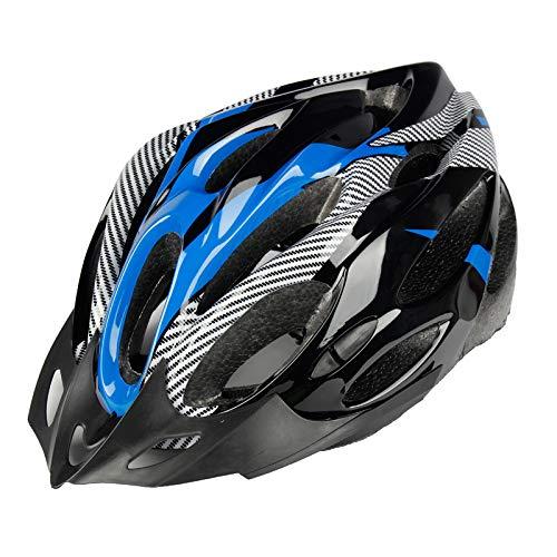 FANGXUEPING Casque De Vélo Imitation De Vélo Casque De Vélo De Montagne Monobloc Équipement De Cyclisme Accessoires De Casque pour Hommes Et Femmes Taille Unique Black Blue Carbon Thousand
