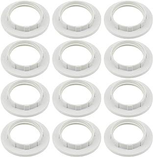 TXErfolg Bulbos de tornillo Soporte de lámpara Girar y bloquear E14 Anillo de repuesto Anillo de pantalla de lámpara Convertidor de anillo de lámpara de plástico Anillo reductor de pantalla de lámpara