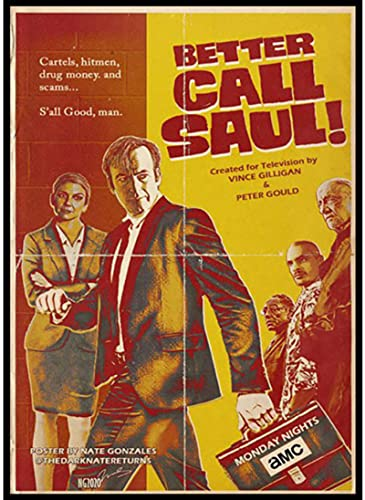 WENTINIAO Full Color Canvas Poster Better Call Saul Season 5 Retro Poster Decor Painting Decorative Wall Sticker50*70 Cm (Frameless) and Durable