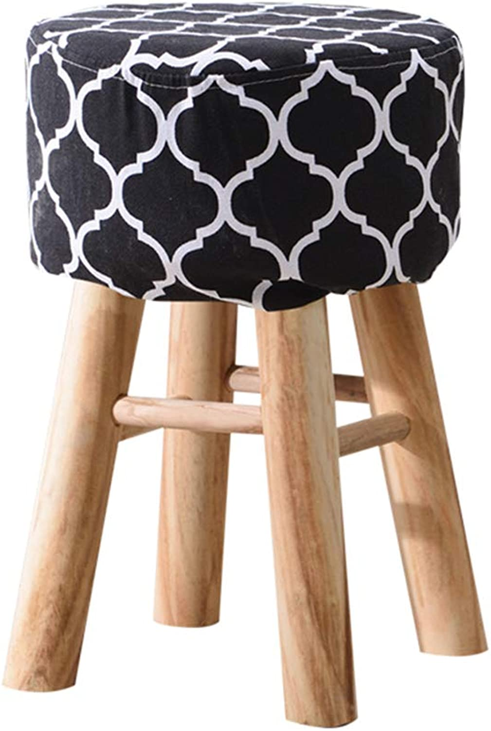 ZHAOYONGLI Solid Wood Stool Chair Simple Modern Square Stool Restaurant Dining Stool Fabric Adult Home Nordic Dining Chair Creative Solid Durable Long Lasting (color   B-1)