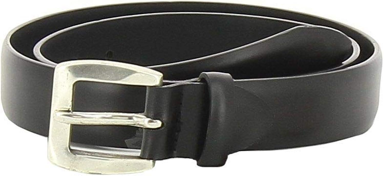 Paolo Vitale Men's 430612O Black Leather Belt