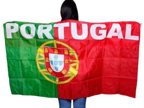 Alsino Flagge Cape Fankostüm Fanumhang Deutschland Fan Umhang Fahnenumhang Fahne Fahnencape Poncho, wählen:UF-10 Portugal