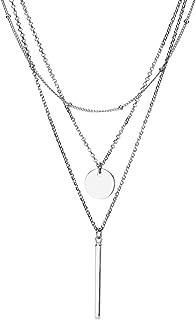Edelstahl Halskette Feder Damenschmuck Filigran Silber