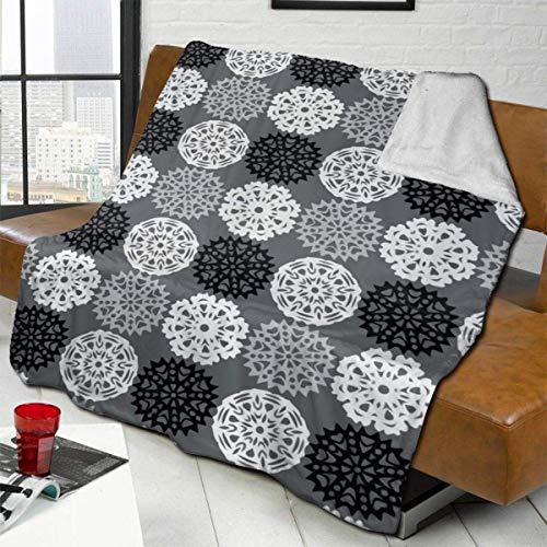 ZHENGYUAN Manta de forro polar Snowmans de peluche, gruesa, para el sofá o la colcha para hombres, resistente para dormir, cubierta de franela para el verano, 80 × 60 cm