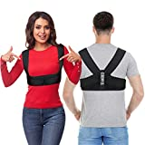 Posture Corrector - Support Brace – Posture Corrector for Men and Women – Adjustable Upper Back Brace – Neck, Back, and Shoulder Support – Back Braces – Trendy and Unique Design no underarm digging( please watch how to wear video)-(US patent pending)
