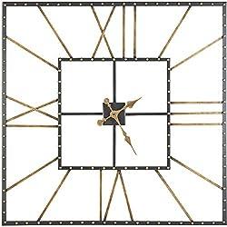 Ashley Furniture Signature Design - Thames Wall Clock - Contemporary Glam - Black/Gold Finish