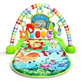 CUTE STONE Baby Gym Play Mat , Kick and Play Piano Gym, Musical Activity Center for Infants Toddlers