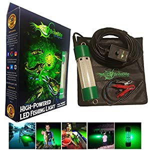 Lightingsky 12V 70W 7000 Lumens LED Submersible Fishing Light 6 Sides Underwater Fish Finder Lamp with 5m Cord