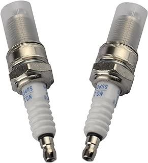 HIPA Spark Plug for Honda GX120 GX160 GX200 GX240 GX270 GX340 GX390 Engine Lawn Mower Tractor Rototiller(Set of 2)