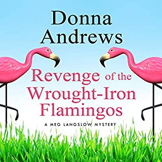 Revenge of the Wrought-Iron Flamingos audiobook cover art