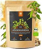 Holi Natural® Premium BIO Ashwagandha Wurzel Pulver - 250g - ECHTE Indische Withania Somnifera aus kontrolliert biologischem Anbau - im biologisch abbaubaren wiederverschließbaren Beutel