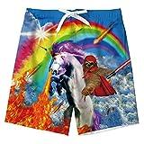 uideazone Boys Quick Dry Swimming Trunks Rainbow Unicorn Printed...