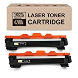 CMCMCM 2PK Cartucho de tóner compatible para Brother TN1050 TN-1050 compatible con Brother HL-1110 DCP-1510 HL-1210W DCP-1610W HL-1112 MFC-1810 HL-1212W MFC-1910W DCP-1612W DCP-1512